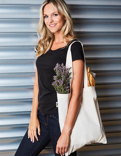 Cotton Bag, Fairtrade-Cotton, Long Handles